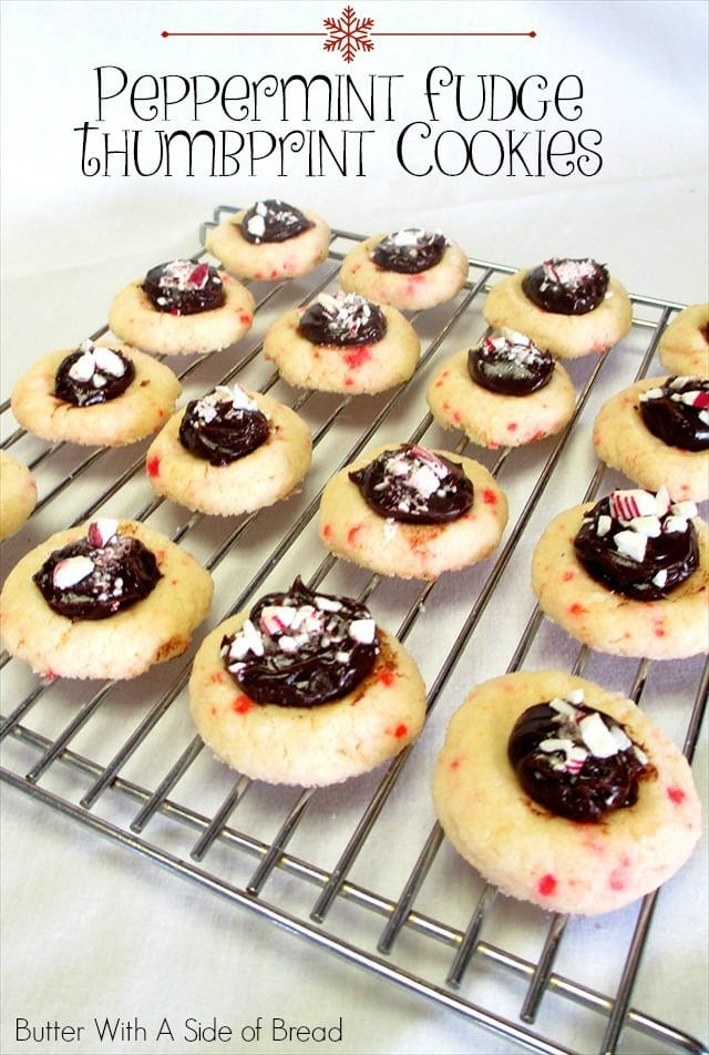 ... peppermint cookies. Use extra crushed candy cane to top the chocolate