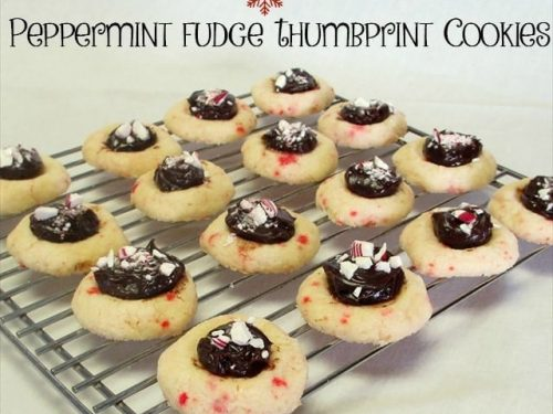 Peppermint Fudge Thumbprint Cookies Butter With A Side Of Bread