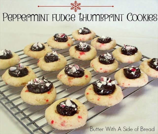 PEPPERMINT FUDGE THUMBPRINT COOKIES: Butter With A Side of Bread