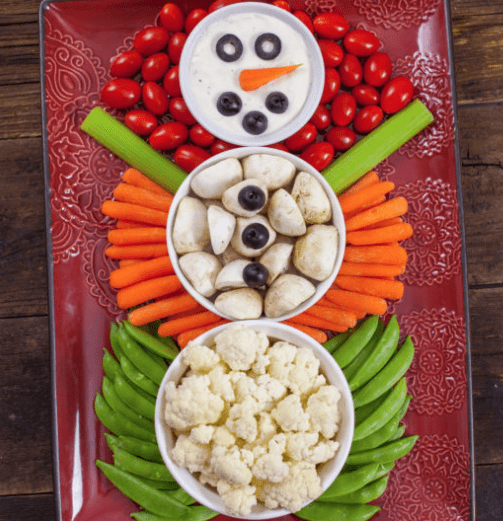 Christmas Platters And Trays.Festive Christmas Veggie Trays Platters Butter With A