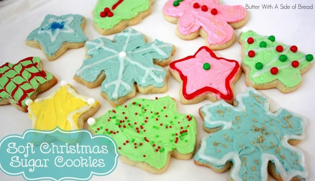 SOFT CHRISTMAS SUGAR COOKIES - Butter with a Side of Bread