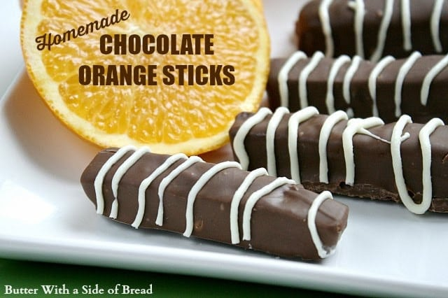 Homemade Chocolate Orange Sticks Butter With A Side Of Bread