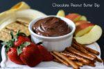 CHOCOLATE PEANUT BUTTER DIP