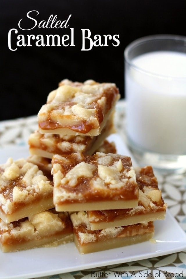 SALTED CARAMEL BARS - Butter with a Side of Bread
