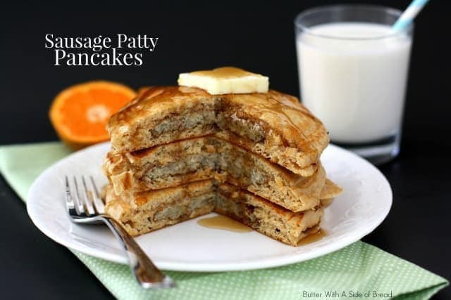 Sausage Patty Pancakes Er With A Side Of Bread