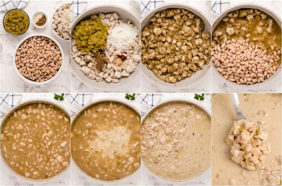 how to make Easy 30 Minute White Chicken Chili recipe