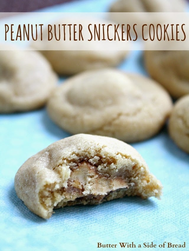 PEANUT BUTTER SNICKERS COOKIES - Butter With a Side of Bread
