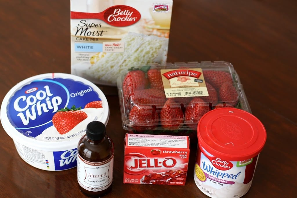 Strawberries & Cream Poke Cake: Butter With A Side of Bread