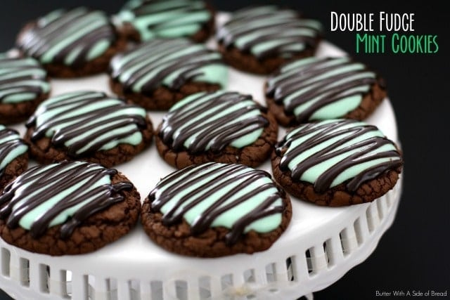 Double Fudge Mint Cookies