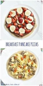 BREAKFAST PANCAKE PIZZAS