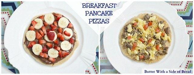 Krusteaz Breakfast Pancake Pizzas - Butter With A Side of Bread