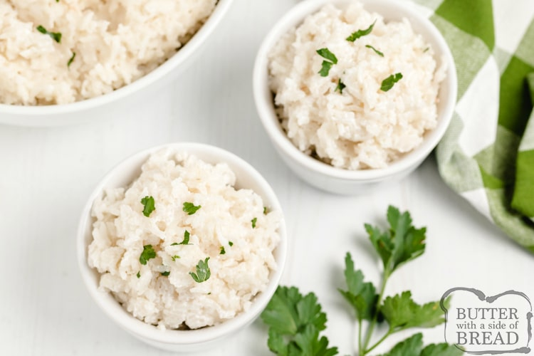 Rice made with coconut milk