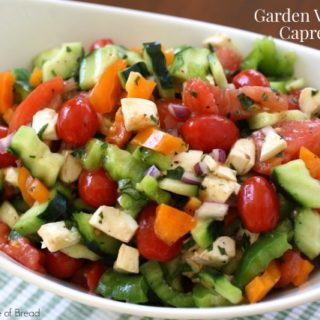 GARDEN VEGETABLE CAPRESE SALAD