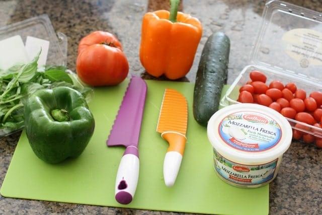 Garden Vegetable Caprese Salad.IMG_0003