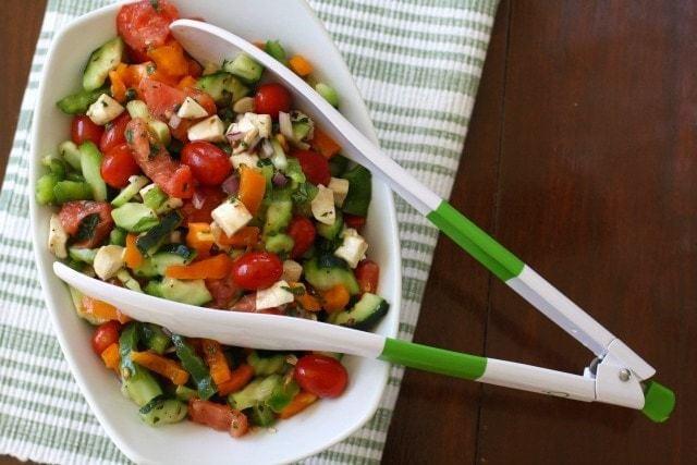Garden Vegetable Caprese Salad.IMG_0027
