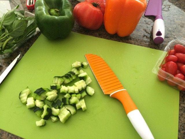 Garden Vegetable Caprese Salad.IMG_5982
