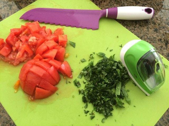 Garden Vegetable Caprese Salad.IMG_5983