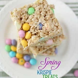 Spring Krispie Treats. Butter With A Side of Bread
