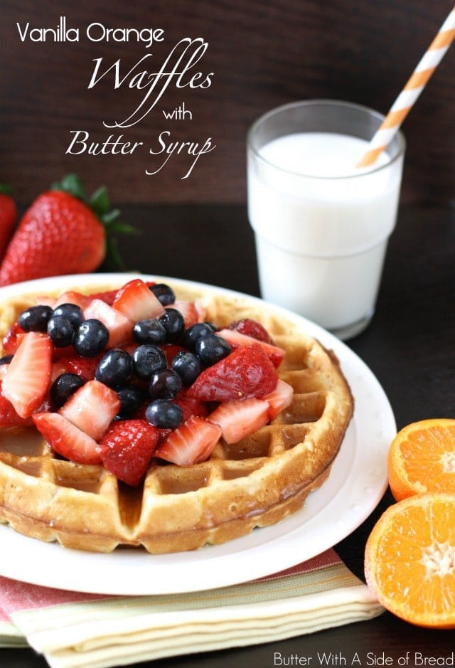 ... bean orange butter recipe yummly gingerbread waffles with vanilla bean