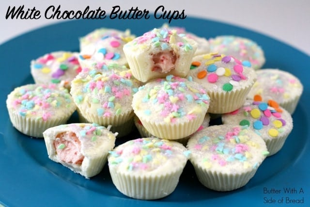 White Chocolate Butter Cups. Butter With A Side of Bread