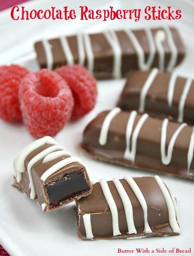 Chocolate Raspberry Sticks ~ Butter With A Side of Bread