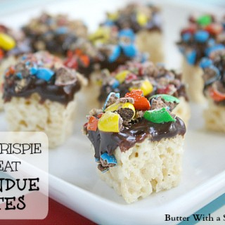 Rice Krispy Treat Fondue Bites from Butter With A Side of Bread