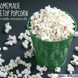 Homemmade Stovetop Popcorn