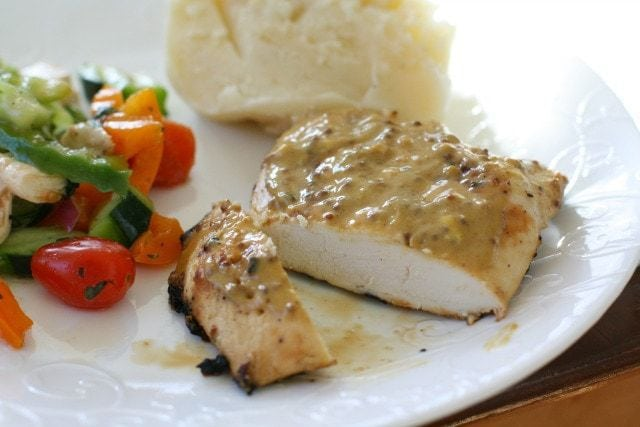 Grilled Honey Mustard Chicken ~ Butter With A Side of Bread