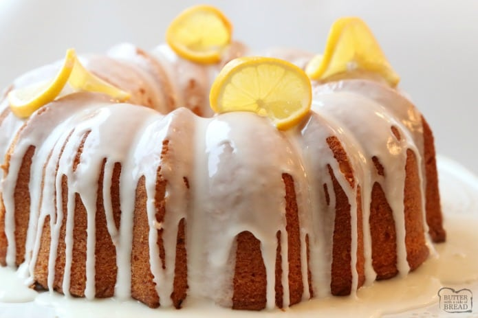 Buttermilk Pound Cake With Glaze