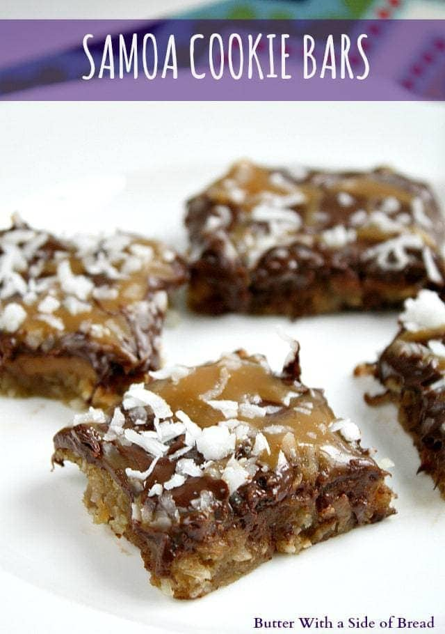 Samoa Cookie Bars ~ Butter With A Side of Bread