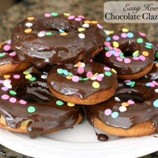 Easy Chocolate Glazed Donuts.IMG_0099