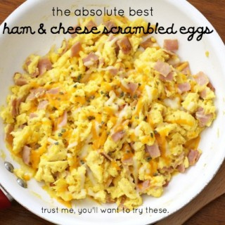 The Best Ham & Cheese Scrambled Eggs.IMG_0090