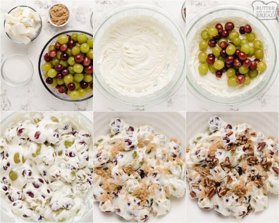 how to make Creamy Grape Salad recipe