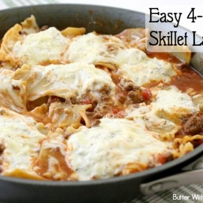 EASY 4-CHEESE SKILLET LASAGNA