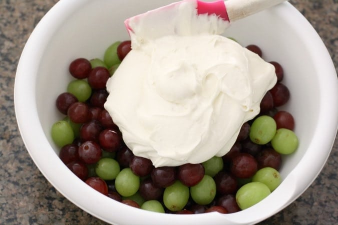 Rich Creamy Grape Salad - Butter With A Side of Bread