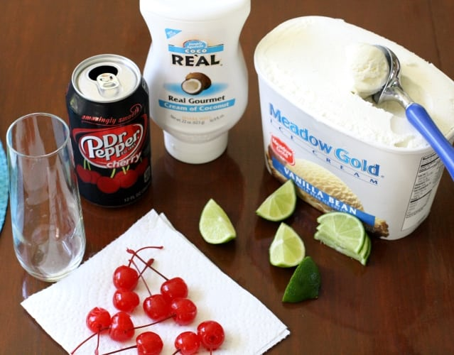 Dirty Dr Pepper Cherry Ice Cream Float - Butter With A Side of Bread #ShareFunshine #ad