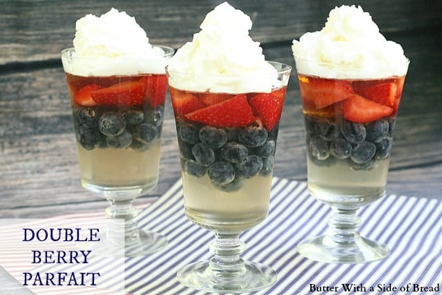 Double Berry Parfait - Butter With a Side of Bread