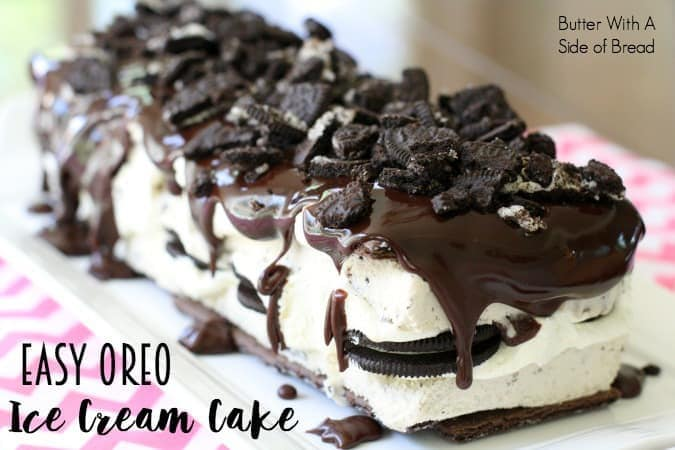 Easy Oreo Ice Cream Cake Butter With A Side Of Bread