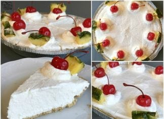 Easy Pina Colada Pie is the perfect summertime treat! Just a few ingredients and everyone loves the fun tropical flavors of this simple chilled pie.