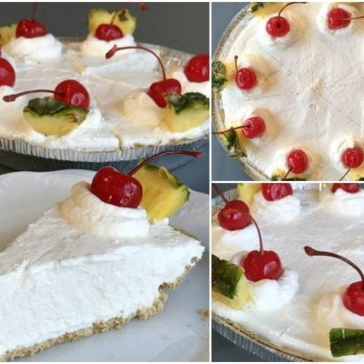 SUPER EASY PINA COLADA PIE