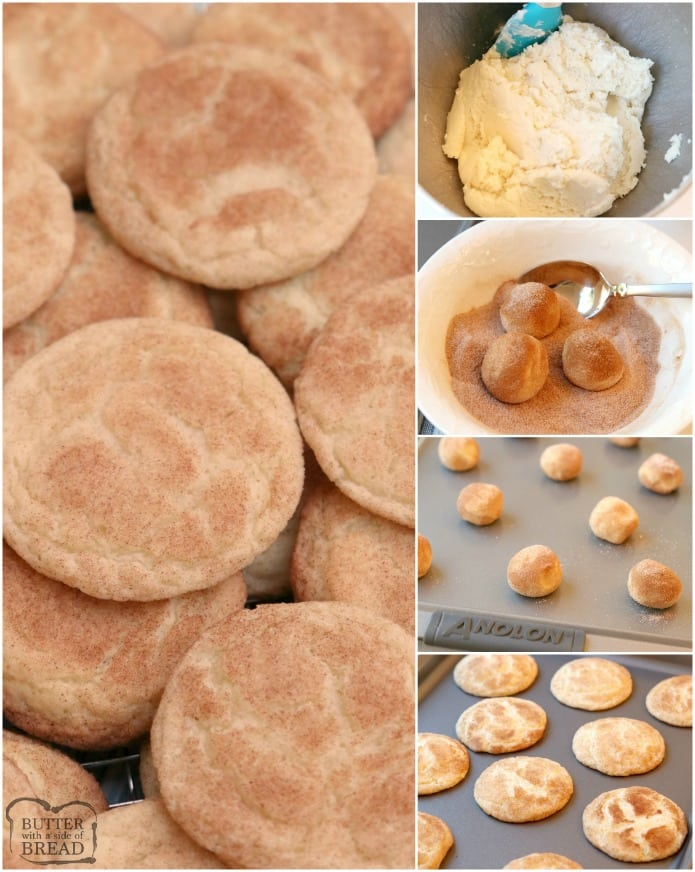 The Best Snickerdoodle Cookies Butter With A Side Of Bread