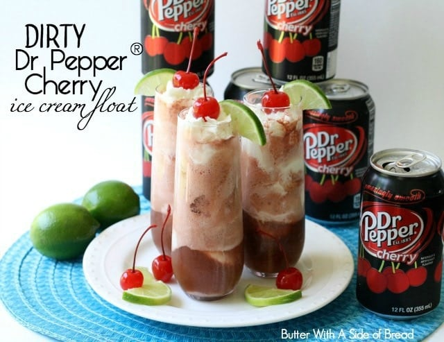 Dirty Dr Pepper® Cherry Ice Cream Float - Butter With A Side of Bread #ShareFunshine #ad
