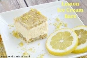 Lemon Ice Cream Bars Butter With A Side Of Bread