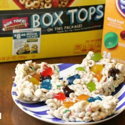 FRUITY CHEERIOS BARS & BOX TOPS FOR EDUCATION