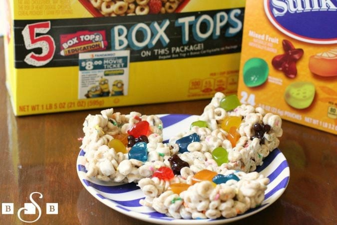 fruity cheerios bars & box tops for education