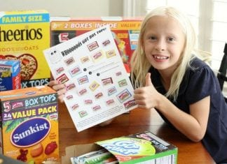 Box Tops for Education Collection Sheet