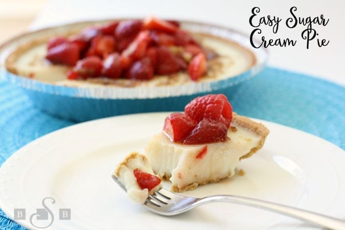 Sugar Cream Pie - Butter With A Side of Bread