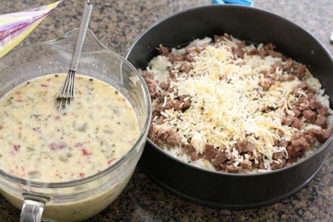 Southwest Breakfast Casserole Butter With A Side Of Bread