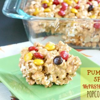 PUMPKIN SPICE MARSHMALLOW POPCORN TREATS