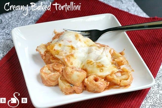 creamy baked tortellini